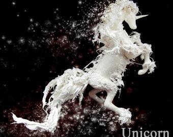 unicorn star water polymer clay fantasy art doll OOAK horse spirit