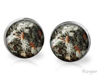 Stud Earrings Frosted 14