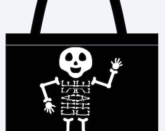Personalized Skeleton  Trick or Treat bag