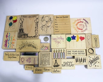 28 Assorted Birthday Stamps