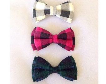 Plaid Bow Tie - Buffalo Plaid Bow Tie - Boys Bow Tie, Fashion Bow Tie, Girls bow tie, Holiday bow tie