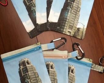 "Buffalo / Buffalo Central Terminal purse / Bag 6"" x 9 inches Great employee gift"