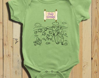 Passover Baby Bodysuit Clothing Seder Holy Moses Pesach Outfit Infant Clothes Playsuit Bible Jewish Holiday Gifts For Children
