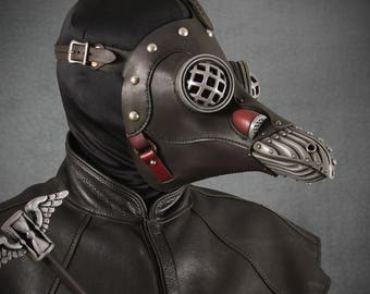 Miasma with Eyecages, Steampunk Plague Doctor Mask