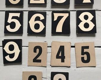 Vintage Hymn Number Card