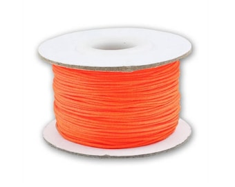 Coil 0.5mm/0.8mm/1mm - Orange - braided Nylon thread