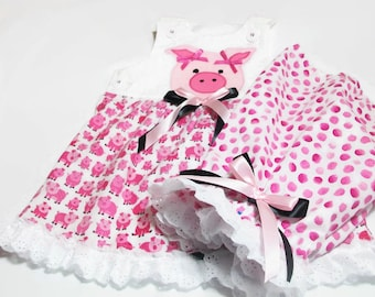 Baby Girl Clothes - Pig Outfit  for Baby Girl -. Baby Summer Wear