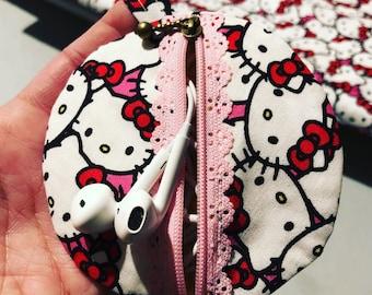 Hello Kitty headphone case