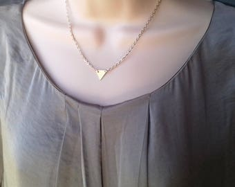 Triangle Necklace   geometric necklace   gold necklace   gold triangle   delicate necklace   layering necklace   everyday dainty necklace