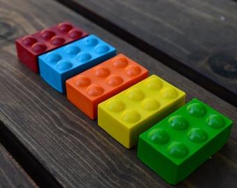Building Block Crayons set of 20 - Party Favors - Kids Crayons