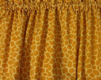 "Giraffe Valance Window Treatment Curtain Nursery Print Custom Made 42"" W X 14"" L"