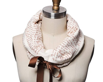 Wuthering Heights Ribbon Book Scarf - Infinity Scarf, Literary Scarf, Emily Bronte, Book Lover, Books, Reading, Teacher Gift