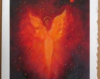 Angel Card, Angel Art Print Card,  Blank Greeting Cards, Angel, Greeting Cards, Spiritual, Angel Of Love