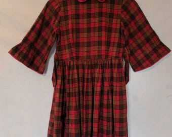 Vintage Girls Plaid Dress