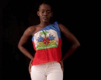 Haitian one shouder  top