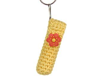 Chapstick  / Lip Balm holder - yellow