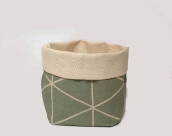 small - green white / utensilo, storage, storage bin, fabric basket, fabric box, storage basket, home organisation