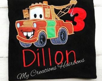 Cars Mater Birthday Shirt
