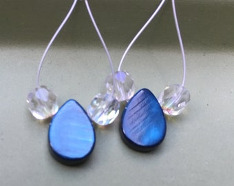 Colorful Mother of Pearl Drop Earrings