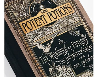 Very Potent Potions  - The Wonders Of Potions A5 Hardback Notebook Magic Spell Book Journal Inspired by Harry Potter. Lined Paper Inside.