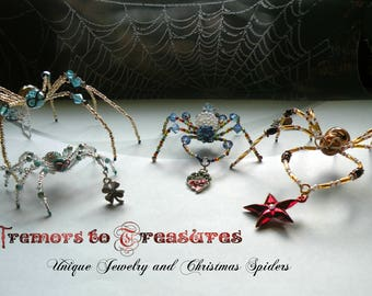 Christmas Spider; Housewarming Gift; Christmas Spider Legend; Made to Order; Select your choice of size, color, charm, and style of silk