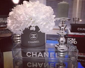 Chanel clear perfume make up organiser tray