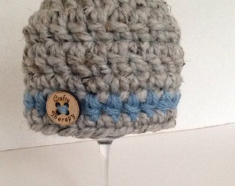 Crochet newborn hat, crochet baby hat, crochet infant hat, infant boy hat, baby coming home hat, baby beanie, baby boy hat, baby girl hat