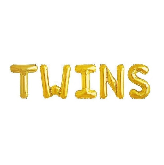 Twins Balloons Twins Baby Shower Balloon Letters Baby Shower