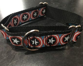 Star, Red, White, & Blue Jacquard Martingale