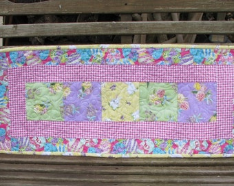 Quilts for Sale - Table Runner - Welcome Spring - Easter Quilted Table Runner 2