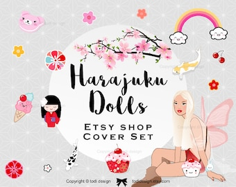 Harajuku Doll - ensemble housse Premade Boutique Etsy