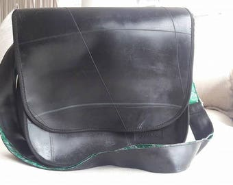 Messenger backpack bag portalaptop Bag eco-friendly sustainable ethical recycling tyre rubber