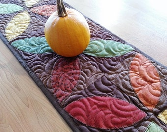 Fall Table Runner, Autumn Table Topper, Harvest Table Runner, Coffee Table Topper, Fall Centerpiece