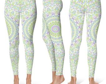 Spring Yoga Leggings, Cute Printed Leggings, Yoga Pants Womens Pattern Leggings Tights