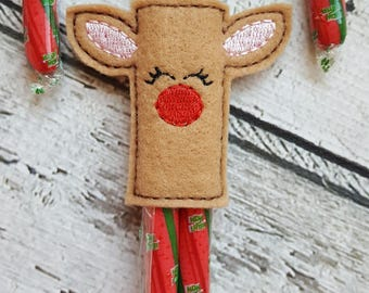 Christmas Reindeer Candy Cane Holder, Reindeer Candy Cane Holder, Christmas Gift, Reindeer,