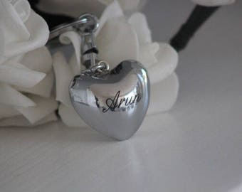 Key ring with engraving Klangherz Heart