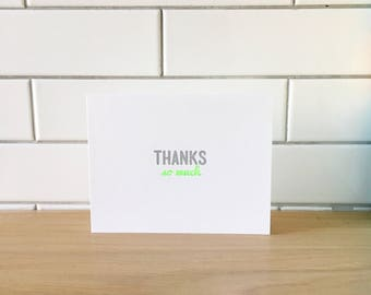 Thanks So Much Card (Gocco printed)