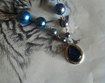 Ocean blue pearl necklace