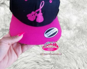 Knock Out Cancer Snap Back- Pinktober- Snap Back Cap