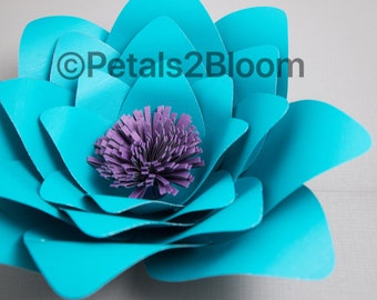 Paper flower template easy crafts petal #6