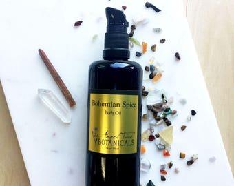 Bohemian Spice Body Oil, Organic Oils, Natural Bath Oil, Boho, Aromatherapy Oils, Massage Oil, Organic Skincare,All-Natural Essential Oils