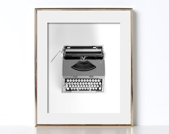 Writer Gift Digital Download Printable Art Educational Decor Modern Design Vintage Typewriter Malibu Collectable Noir Classic Hollywood Den
