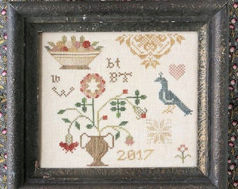A Little Quaker : Cross Stitch Pattern by Heartstring Samplery