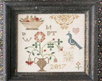 A Little Quaker : Cross Stitch Pattern by Heartstring Samplery