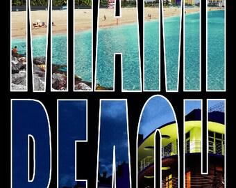 Life In Miami Beach Towel
