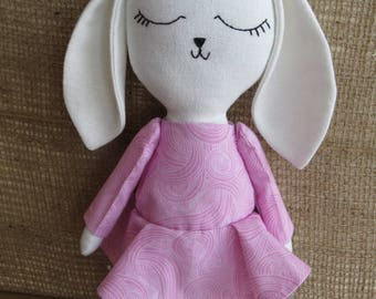 Bella the bunny,soft toy,unique toy,gift for kids,plush toy,handmade doll,baby shower gift,stuffed bunny,birthday gift,cuddle toy,fabric toy