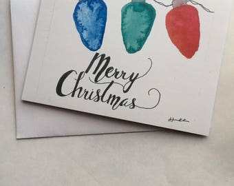Christmas Cards - Hit The Lights Include 10 Cards & Envelopes, Handmade, Christmas