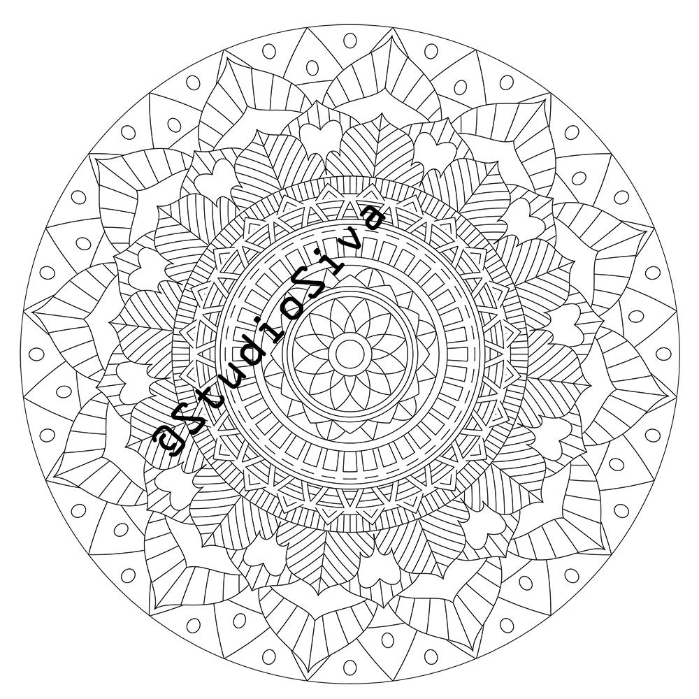 Intricate Tribal Mandala Coloring Page / Instant Download PDF