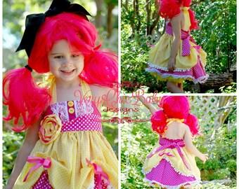 Crumbs Sugar Cookie Dress, Crumbs Sugar Cookie Birthday Dress, Lalaloopsy Dress, Lalaloopsy Birthday Outfit, Lalaloopsy Crumbs Sugar Costume