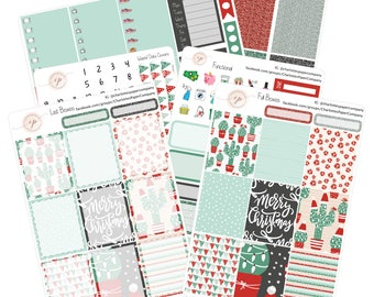 Planner Stickers Erin Condren / Cactus Christmas / Planner Stickers / Erin Condren Planner Stickers / WK-25
